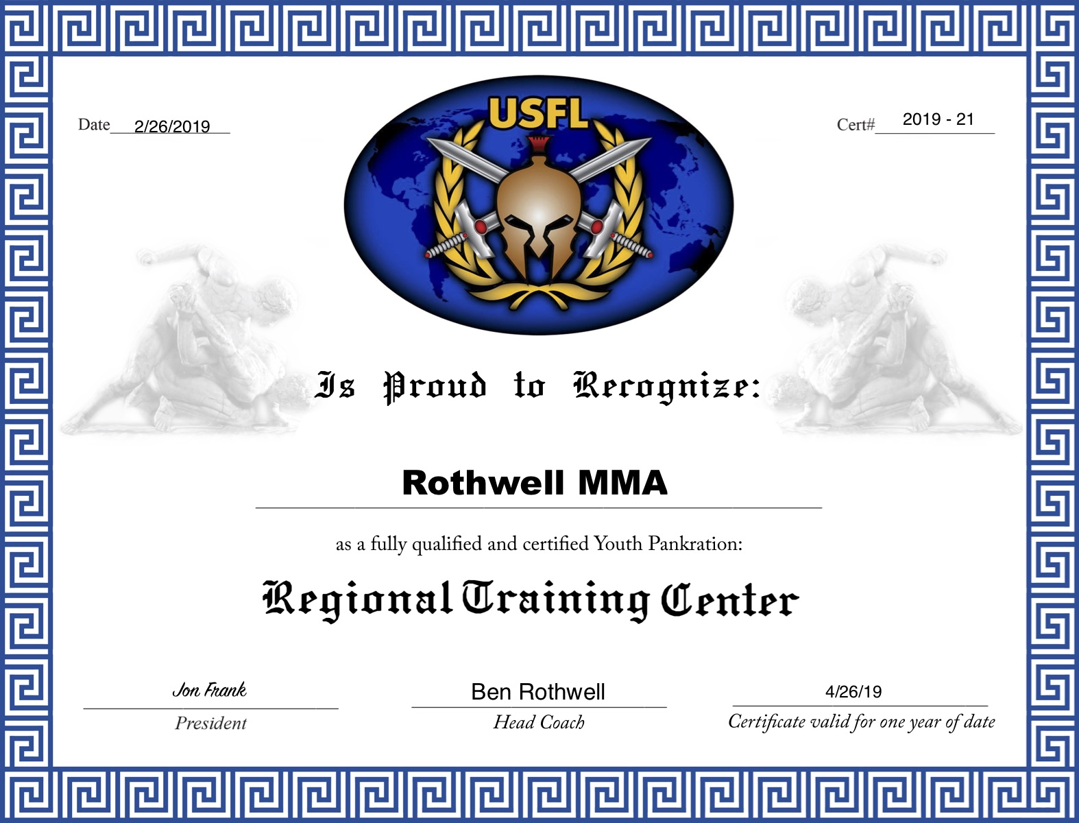 We are an official USFL Youth MMA Training Center